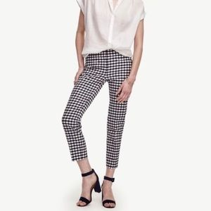 Pixie pant, checkered gingham in black and white